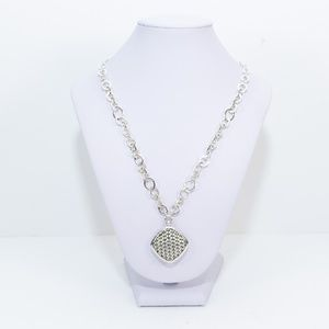 """Lois Hill - Weaved Square Pendant 18"""" Necklace"""